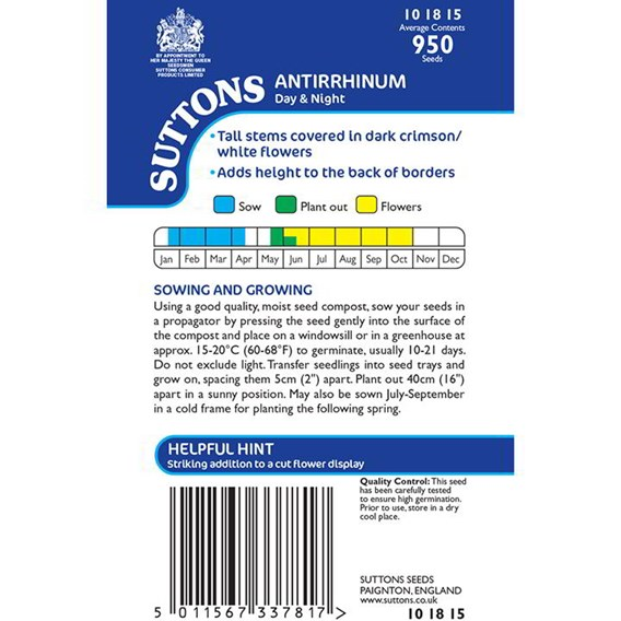 Antirrhinum Seeds - Day & Night