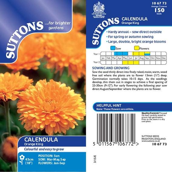 Calendula Seeds - Orange King