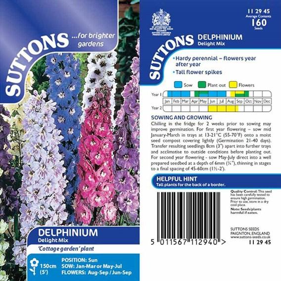 Delphinium Seeds - Delight Mix