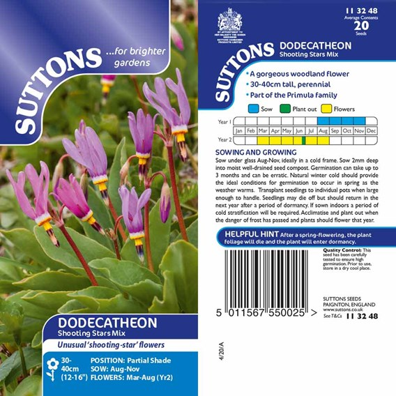 Dodecatheon Seeds - Shooting Star Mix