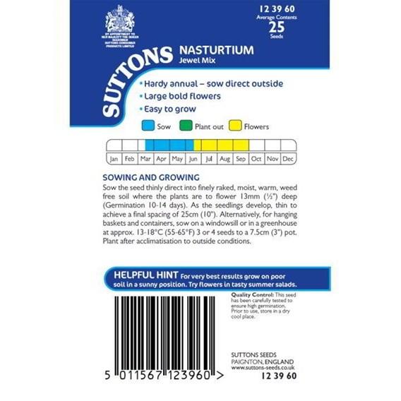 Nasturtium Seeds - Jewel Mix