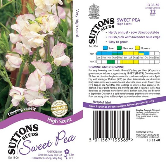 Sweet Pea Seeds - High Scent