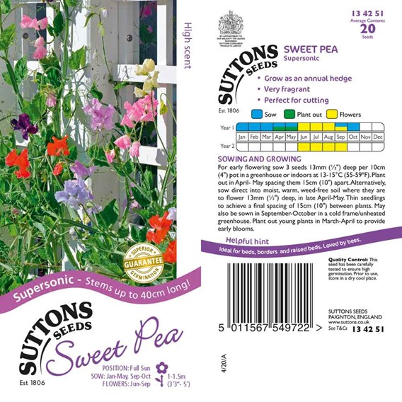 Sweet Pea Seeds - Supersonic