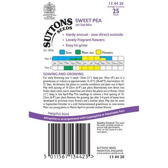 Sweet Pea Seeds - Jet Set Mix