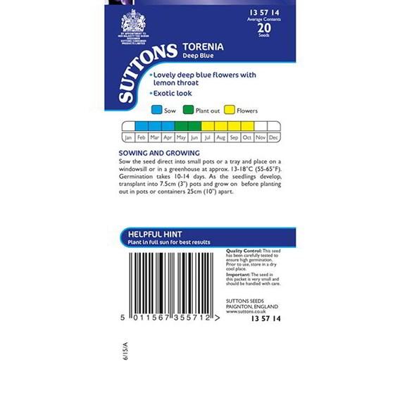 Torenia Seeds - Deep Blue