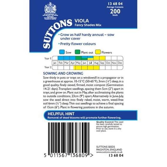 Viola Seeds - Fancy Shades Mix