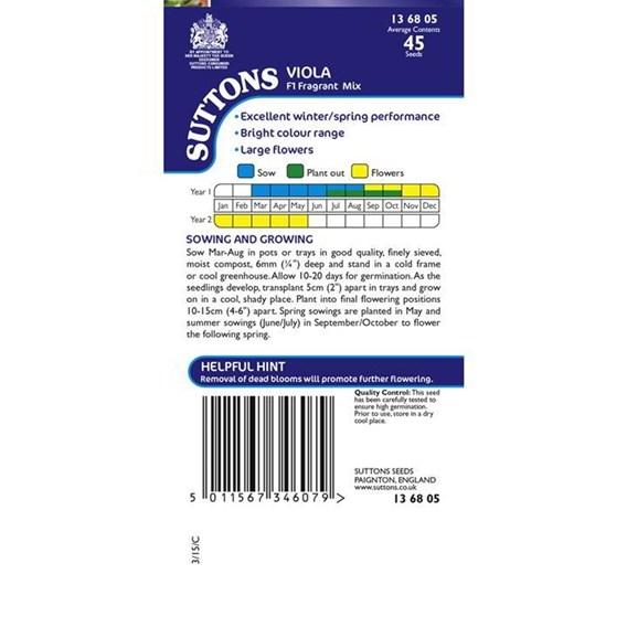 Viola Seeds - Fragrant Mix