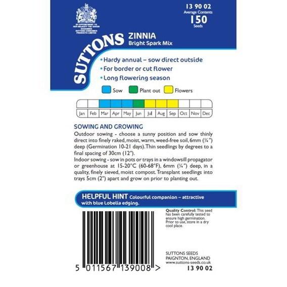 Zinnia Seeds - Bright Spark Mix