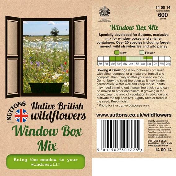 Native British Wildflower Mix Seeds - Window Box