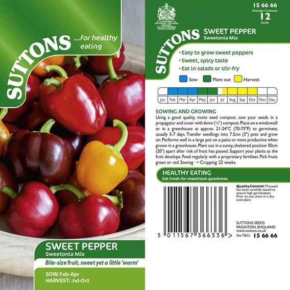 Pepper Sweet Seeds - Sweetonia Mix