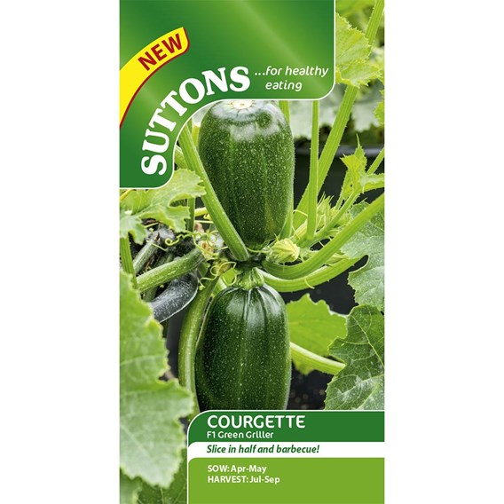 Courgette Seeds - F1 Green Griller
