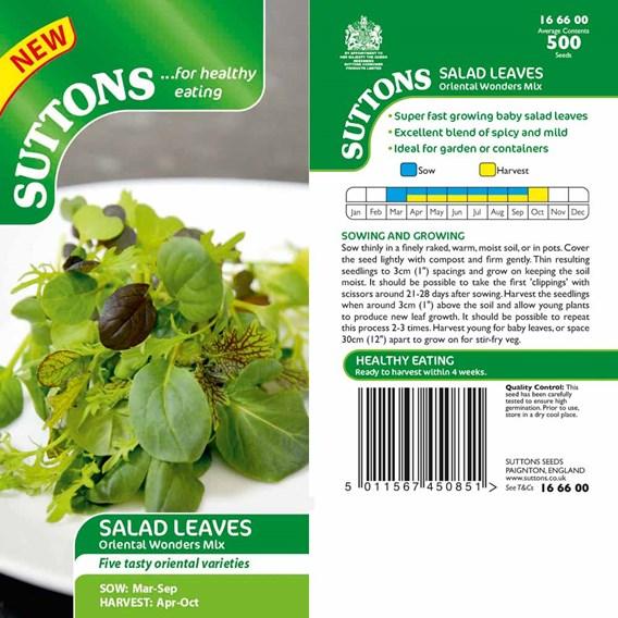 Salad Leaves Oriental Wonders Mix
