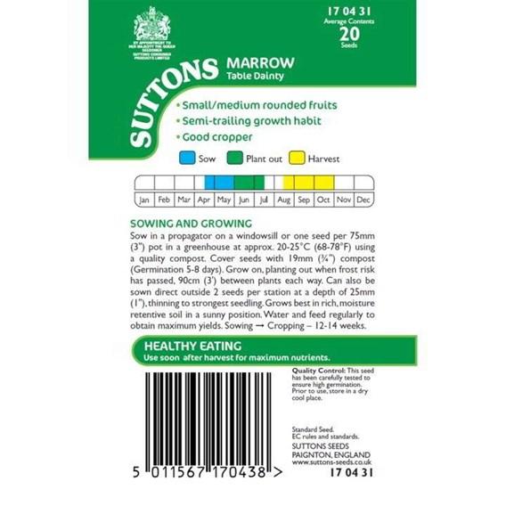 Marrow Seeds - Table Dainty