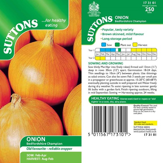 Onion Seeds - Bedfordshire Champion