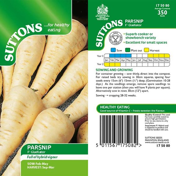 Parsnip Seeds - F1 Gladiator