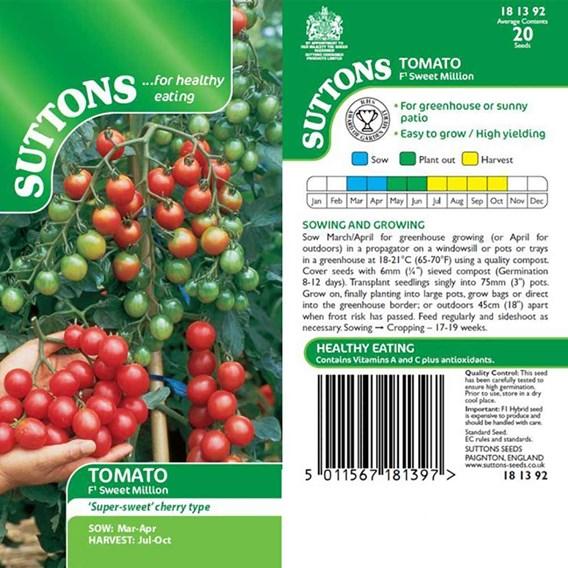 Tomato Seeds - F1 Sweet Million