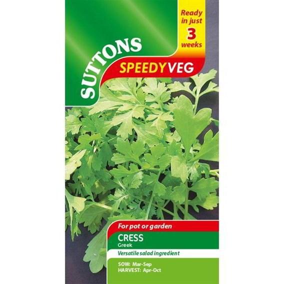 Speedy Veg Seed - Leaf Salad Cress Greek