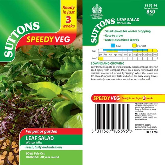 Speedy Veg Seed - Leaf Salad Winter Mix