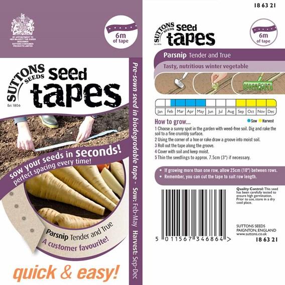Seed Tape - Parsnip Tender & True