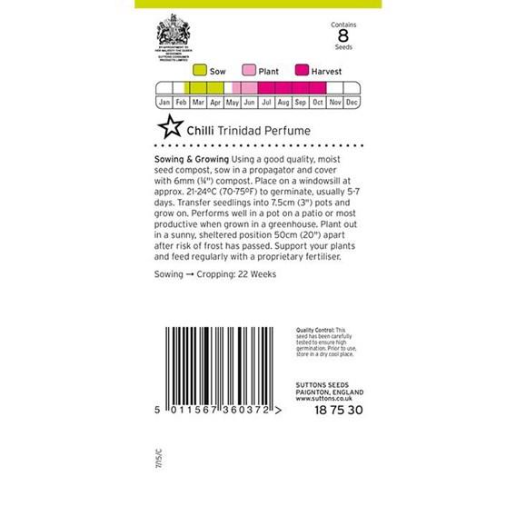 Chilli Seeds - Trinidad Perfume