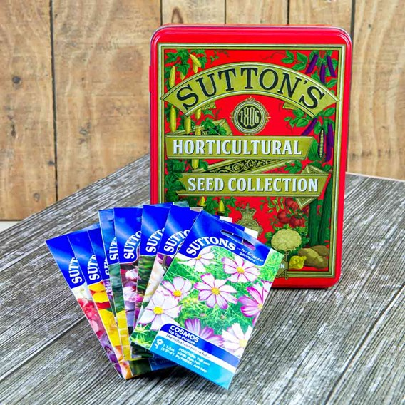 Suttons 1806 Red Tin plus Flower Lovers Seed Collection