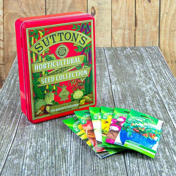 Suttons 1806 Red Tin plus Veg lovers Seed Collection
