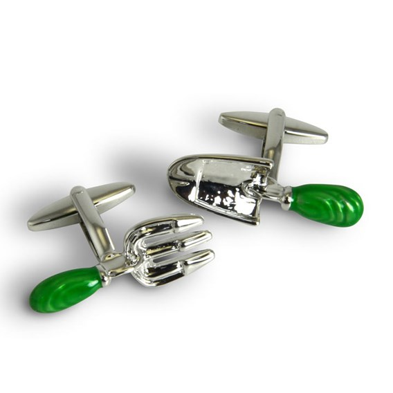 Gardening Cufflinks - Trowel and Fork