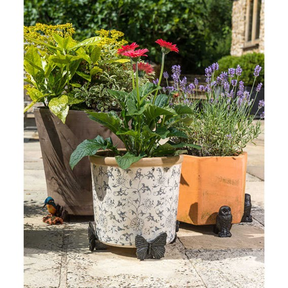 Set of Three 'Butterfly' Pot Feet