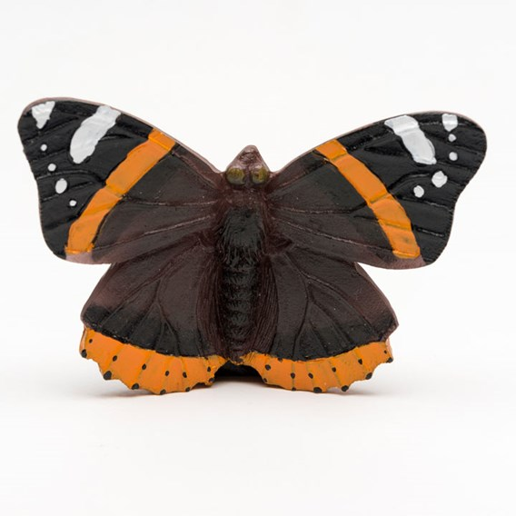Set of Three Coloured 'Red Admiral' Pot Feet