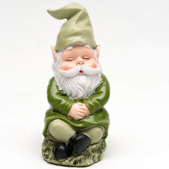 Set of Three Coloured 'Sleeping Gnome' Pot Feet