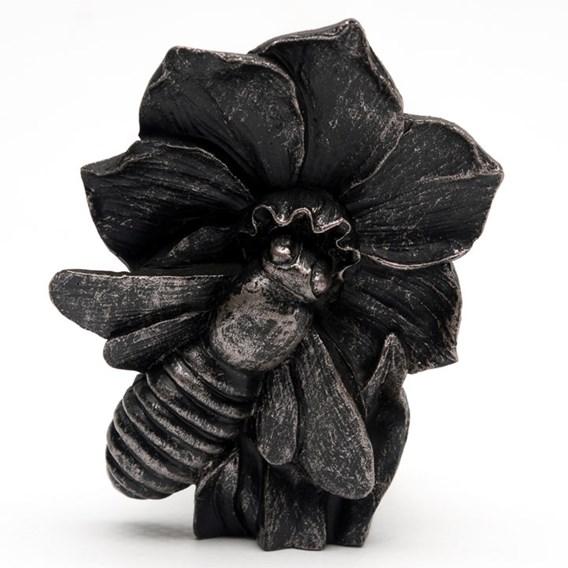 Set of Three 'Bee on Flower' Pot Feet