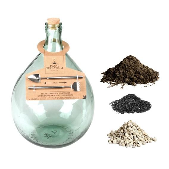 Terrarium Bottle 15L and Starter Kit