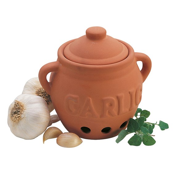 Terracotta Garlic Keeper