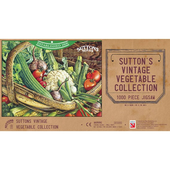 Suttons' Vintage Vegetable Collection 1000 Piece Jigsaw