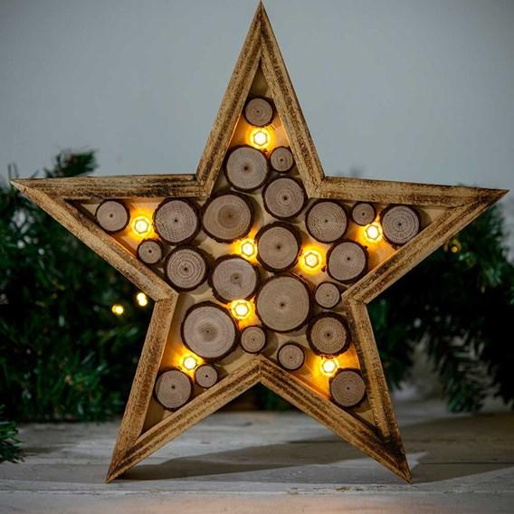 Wooden LED Star