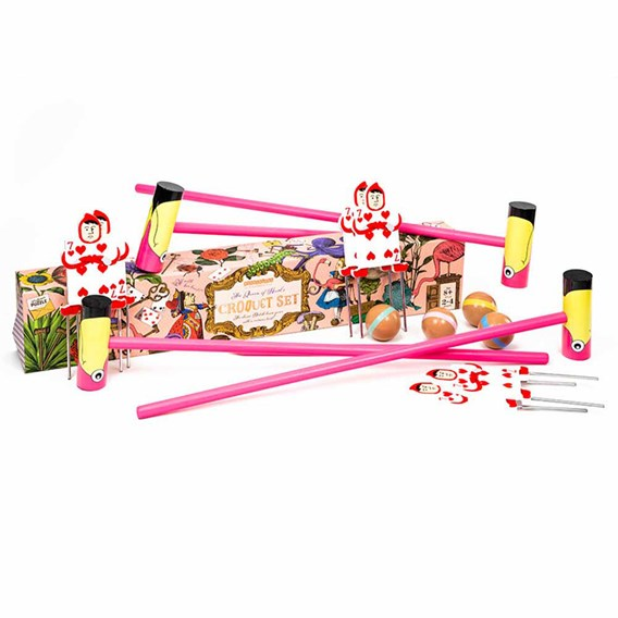 Queen of Hearts Flamingo Croquet
