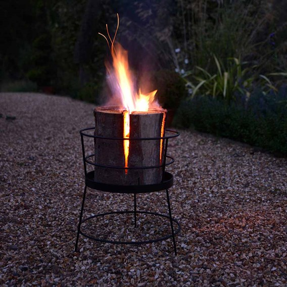 Log Basket & Fire Log
