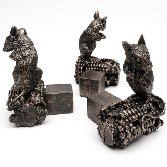 Set of Three 'Mouse on Sweetcorn' Pot Feet