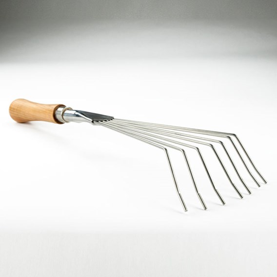 Leaf Rake, 14cm Cherry Handle