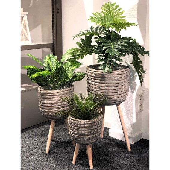 Flower Pot Grey set 3 pcs