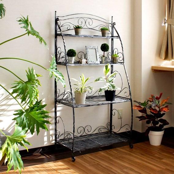 Folding Plant Stand 4 Shelf