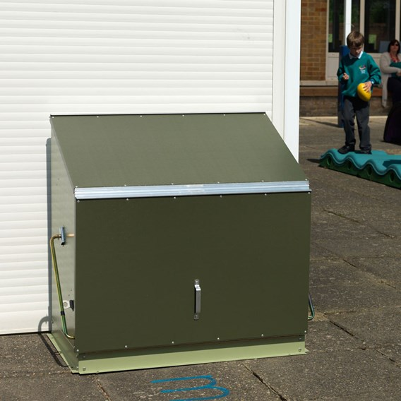 RHS Sentinel in Two Tone Green with metal floor