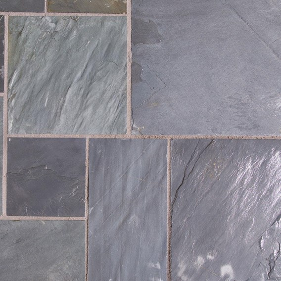 Natural Slate Patio Kit 10.2M2 Sapphire Black