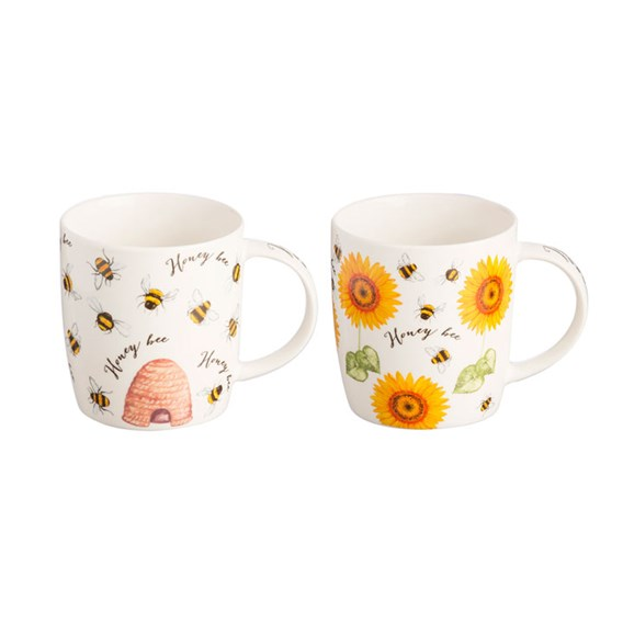 Honey Bee Mugs Assorted (Set of 6)