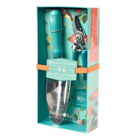 RHS Gift Trowel & Secateur - Flora and Fauna Collection