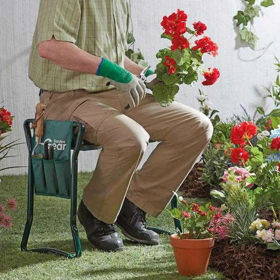 Garden Kneeler With Tool Bag