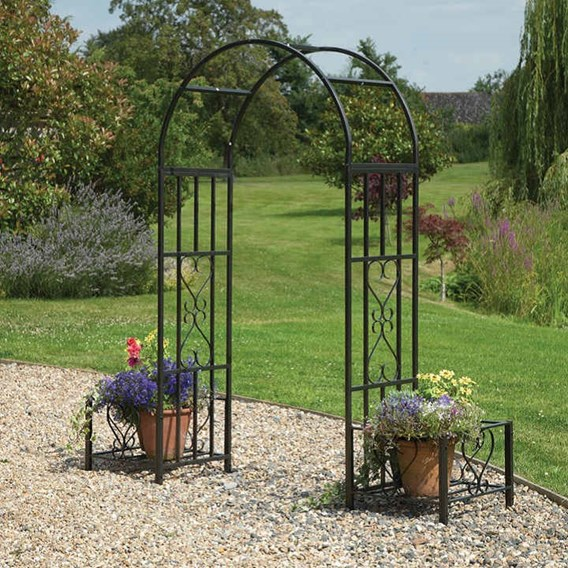 Ornamental Arch with Planters