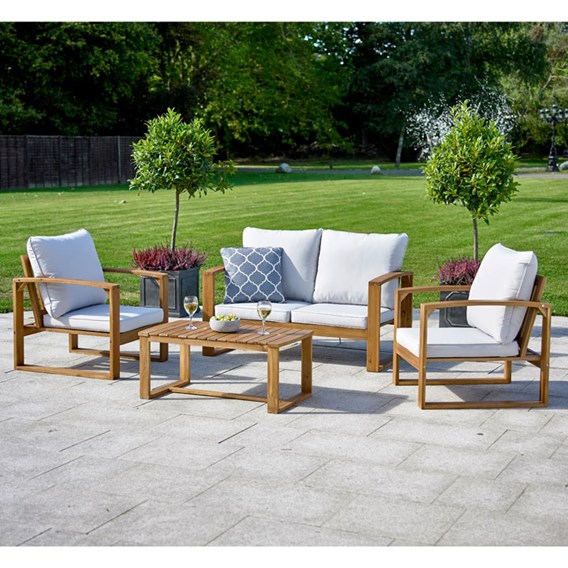 Hardwood Sofa Set Natural