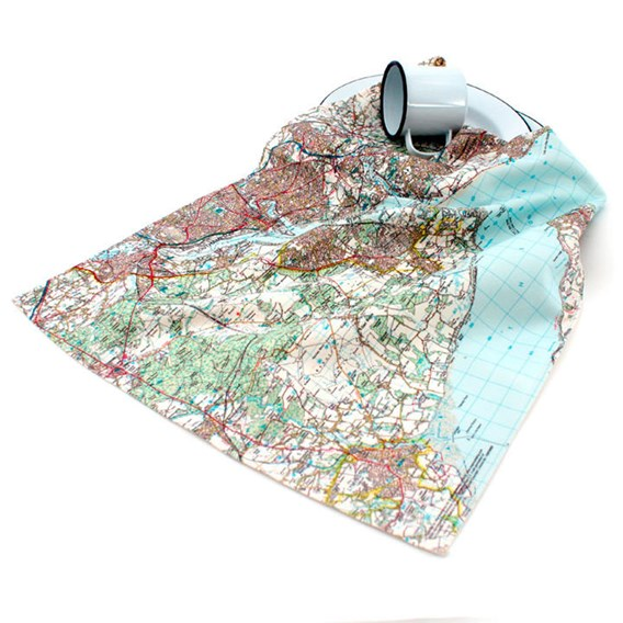 Personalised Map Tea Towel - Landranger