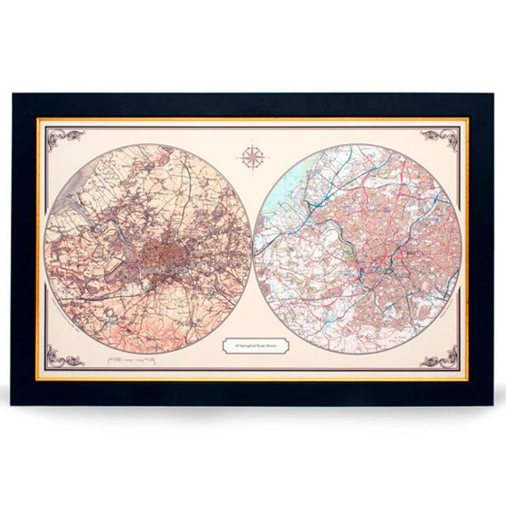 Personalised Double Up - Duo Century Map